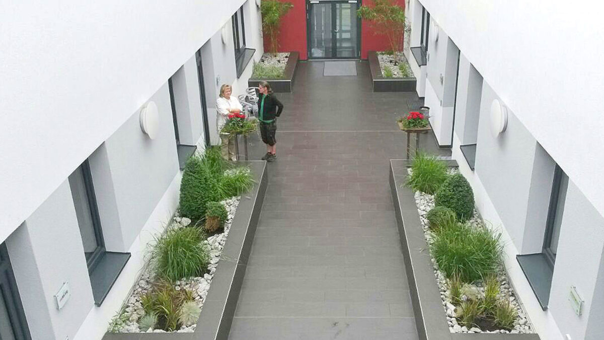 Begrünung Innenhof