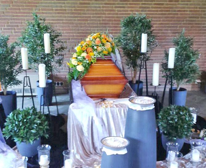 Blumen für Beerdigung