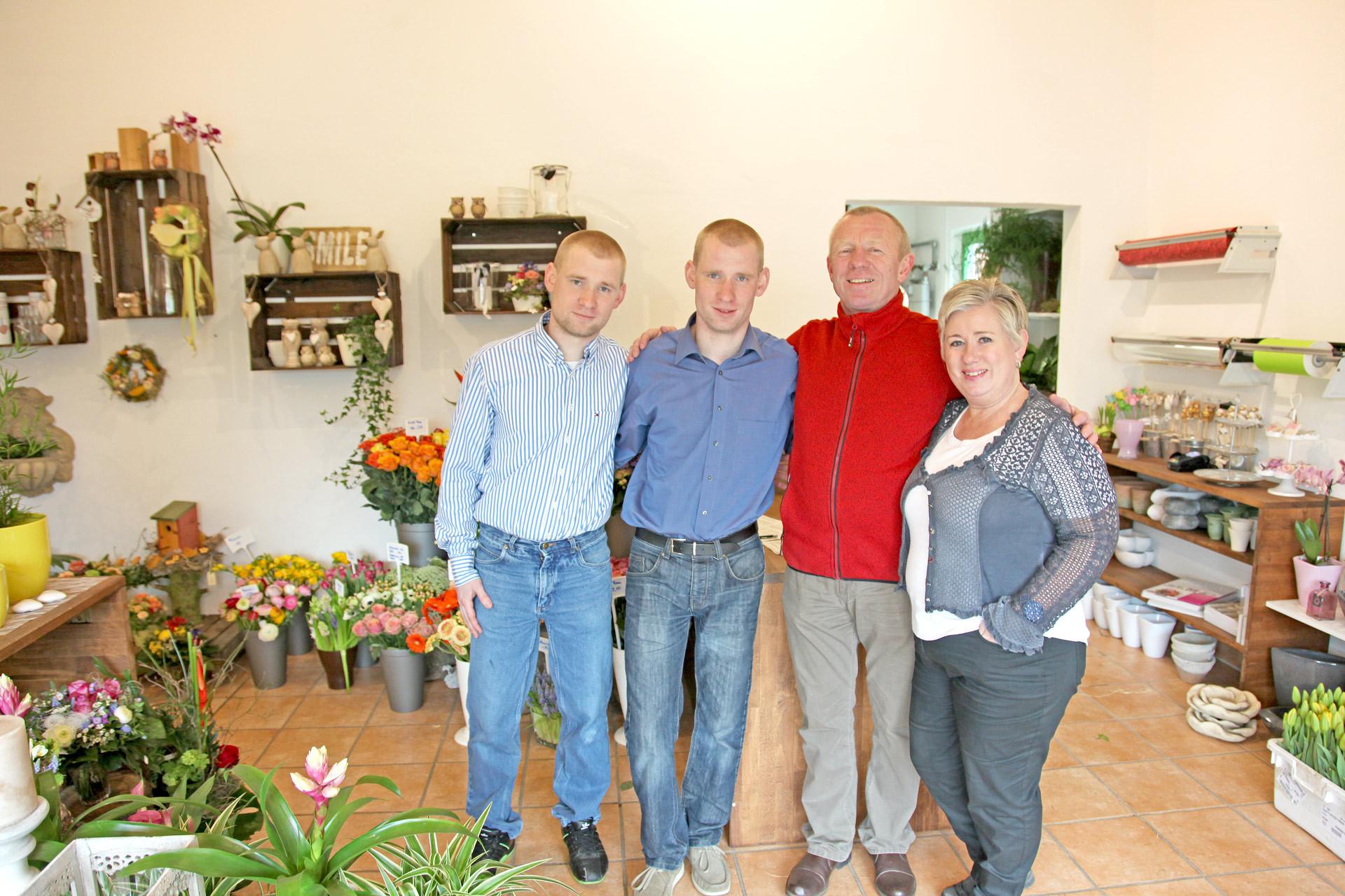 Unser Team im Blumenladen in Niestetal
